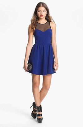 Lush Illusion Fit & Flare Dress (Juniors)