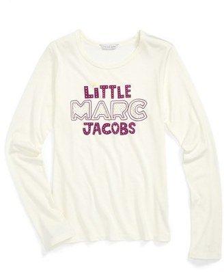 Little Marc Jacobs Long Sleeve Tee (Toddler Girls, Little Girls & Big Girls)
