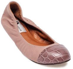Lanvin Captoe Croco Ballerina