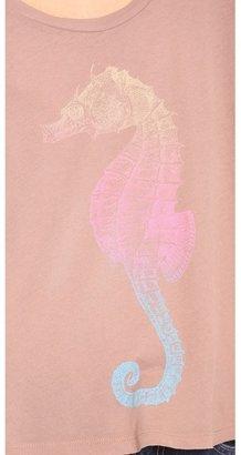 Wildfox Couture Rainbow Seahorse Long Sleeve Tee
