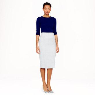 J.Crew Petite telegraph pencil skirt in Super 120s wool