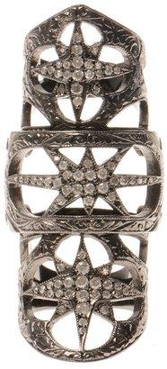 Loree Rodkin 18k gold Baby Starburst bondage ring with diamonds