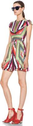 Peter Pilotto Cap Sleeve Dress in Damask Red