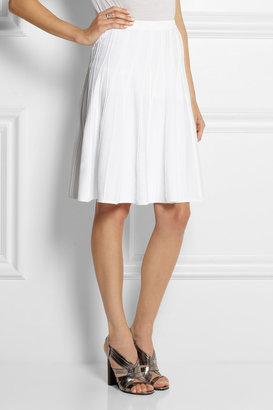 Calvin Klein Collection Roddy pleated stretch-crepe skirt