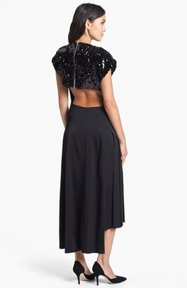 Topshop Sequin Yoke Dress