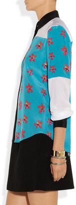 Prabal Gurung Printed silk crepe de chine shirt