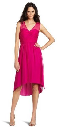 Donna Morgan Women's Ruched Chiffon Dress