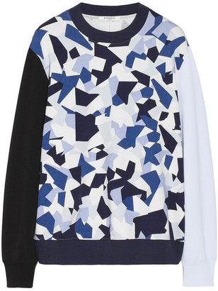 Givenchy Blue Gio Ponti print sweatshirt