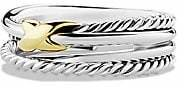 David Yurman Women's X Crossover Ring with Gold