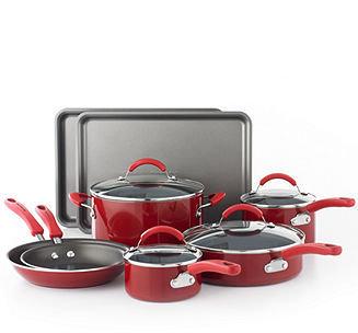 KitchenAid Red 12 Piece Cookware Set