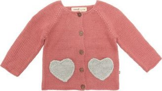 Oeuf Heart Pocket Cardigan