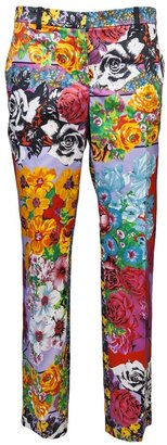Versace Floral printed trouser