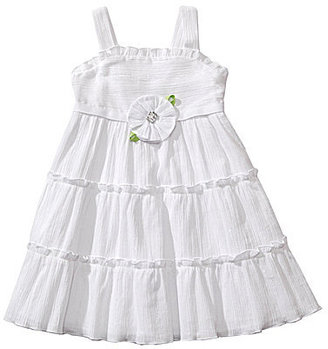 Sweet Heart Rose 2T-6X Ruffled Woven Dress