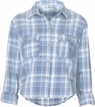 Topshop Moto soft check shirt