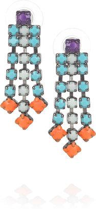 Tom Binns Small Dot Dash Swarovski crystal earrings