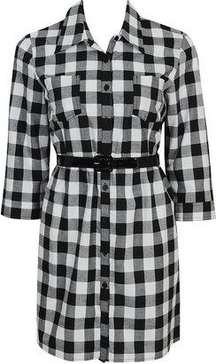Forever 21 Gingham Buttoned Dress