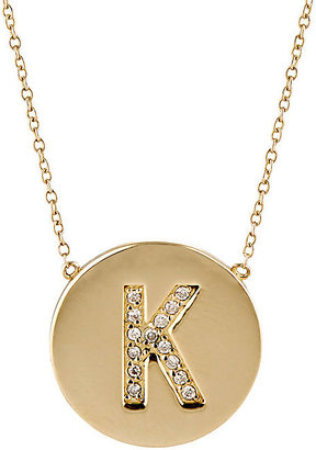 Jennifer Meyer Women's Initial Pendant Necklace $1,800 thestylecure.com