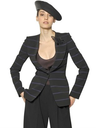 Giorgio Armani Striped Viscose Jersey Jacket