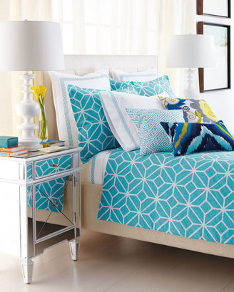 "Trina Turk Turquoise and White ""Trellis"" Bed Linens"
