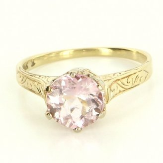 excellent (EX) Vintage 14 Karat Yellow Gold Light Pink Tourmaline Engagement Ring
