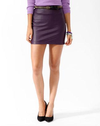 Forever 21 Short Faux Leather Skirt