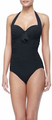 Seafolly Mailot Soft Cup Halter Top One Piece $172 thestylecure.com