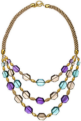 Carolee Triple Row Frontal Rock On Necklace