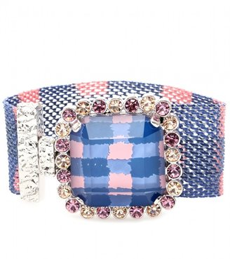 Marc by Marc Jacobs CRYSTAL BEAD EMBELLISHED MESH BRACELET