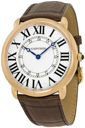 Cartier Ronde Louis Silvered Flinque Dial Men's Watch