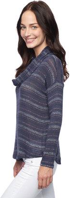 Splendid Metallic Stripe Cowl Neck Top