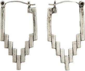Pamela Love Antique Silver Empire Hoop Earrings