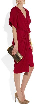 Vionnet Crepe wrap-effect dress