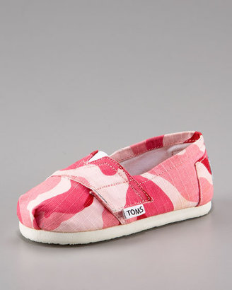 Toms Tiny Girls' Camo Slip-On
