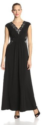 Jax Women's V Neck Lace Maxi Dress