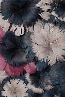 Christopher Kane Floral feather-appliqué cashmere sweater