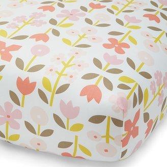 DwellStudio Rosette Blossom Printed Fitted Crib Sheet