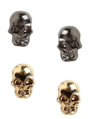 BaubleBar Skull Stud Duo