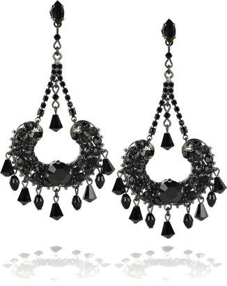 Erickson Beamon Teardrop chain earrings