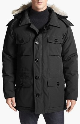 Men's Canada Goose 'Banff' Slim Fit Parka With Genuine Coyote Fur Trim $950 thestylecure.com