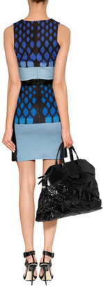 David Koma Blue-Multi Graphic Print Tank Top