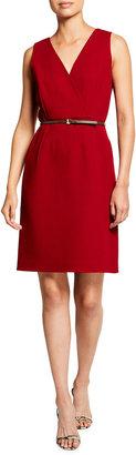 Lafayette 148 New York Valetta Nouveau Crepe Dress with Dora Belt
