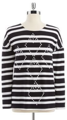 Collective Concepts Long-Sleeve Striped Top