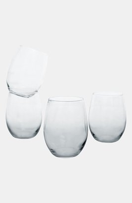 Cathy's Concepts Monogram Set Of 4 Stemless Wine Glasses