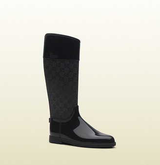 Gucci 'rain' Flat Boot With Script Logo.