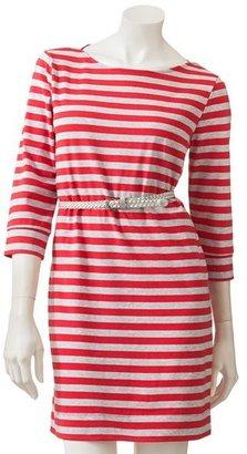 Lauren Conrad striped t-shirt dress