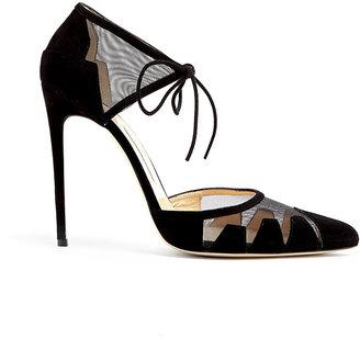 Bionda Castana Black Suede Lana Stiletto Shoes