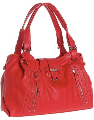 Nine West Zipster Satchel (Orange Fire) - Bags and Luggage