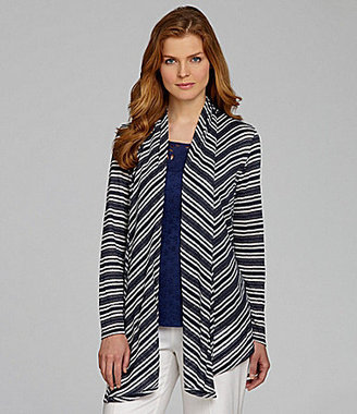 Nurture Metallic Striped Cardigan