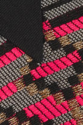 Milly Jacquard-paneled jersey sweatshirt