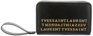 Yves Saint Laurent stamped clutch